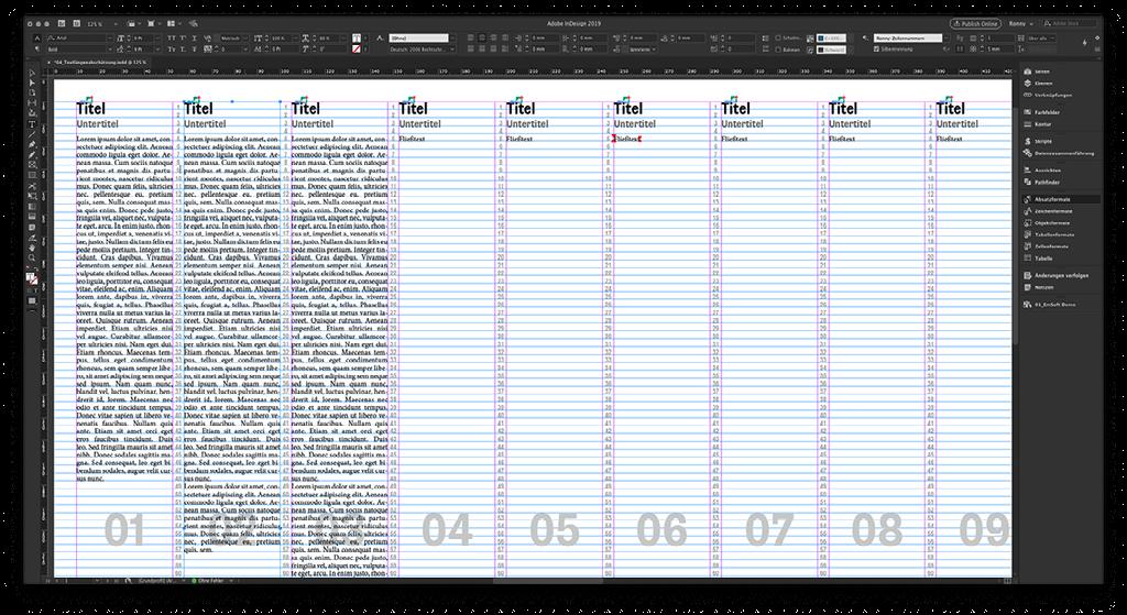 Screenshot des Zeilenverbindliches Sammeldokuments